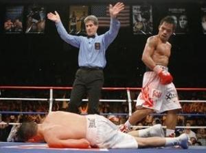 Dave Diaz Knocked Down