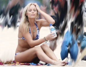 Laura Vandervoort Bikini Day
