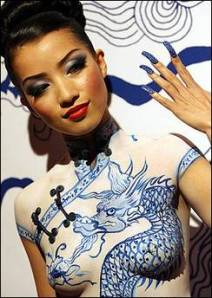 Qi-Pao - Chinese body paint