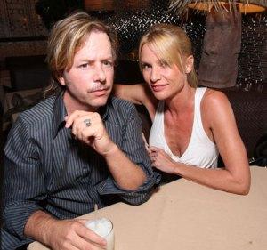 David Spade and Nicollette Sheridan