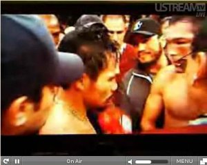 Manny Pacquiao Wins - Dela Hoya Gave Up