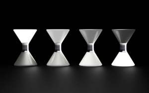 LED Hourglass by Young Bok Kim