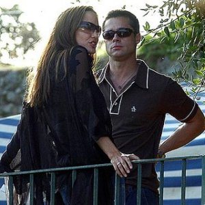 Brad Pitt  and Angelina Jolie in Boracay
